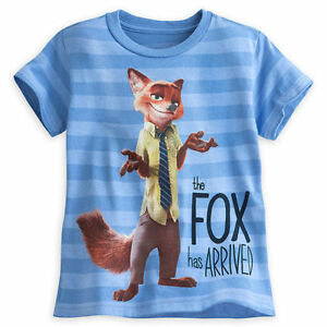 07197f0a12d Disney Store Zootopia Nick Wilde Fox T Shirt Boys Size 2 3 10 12 ...