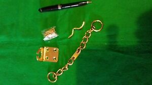 heavy-duty-brass-finish-door-security-chain-new-with-screws