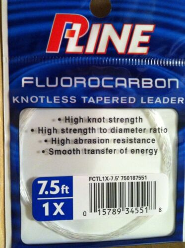 100/% Fluorocarbon 7.5/' 1X Tapered Leader P-Line  Knotless Fly Line Taper Japan