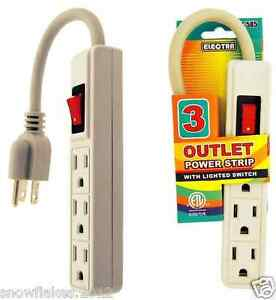 2 outlet power strip with switch