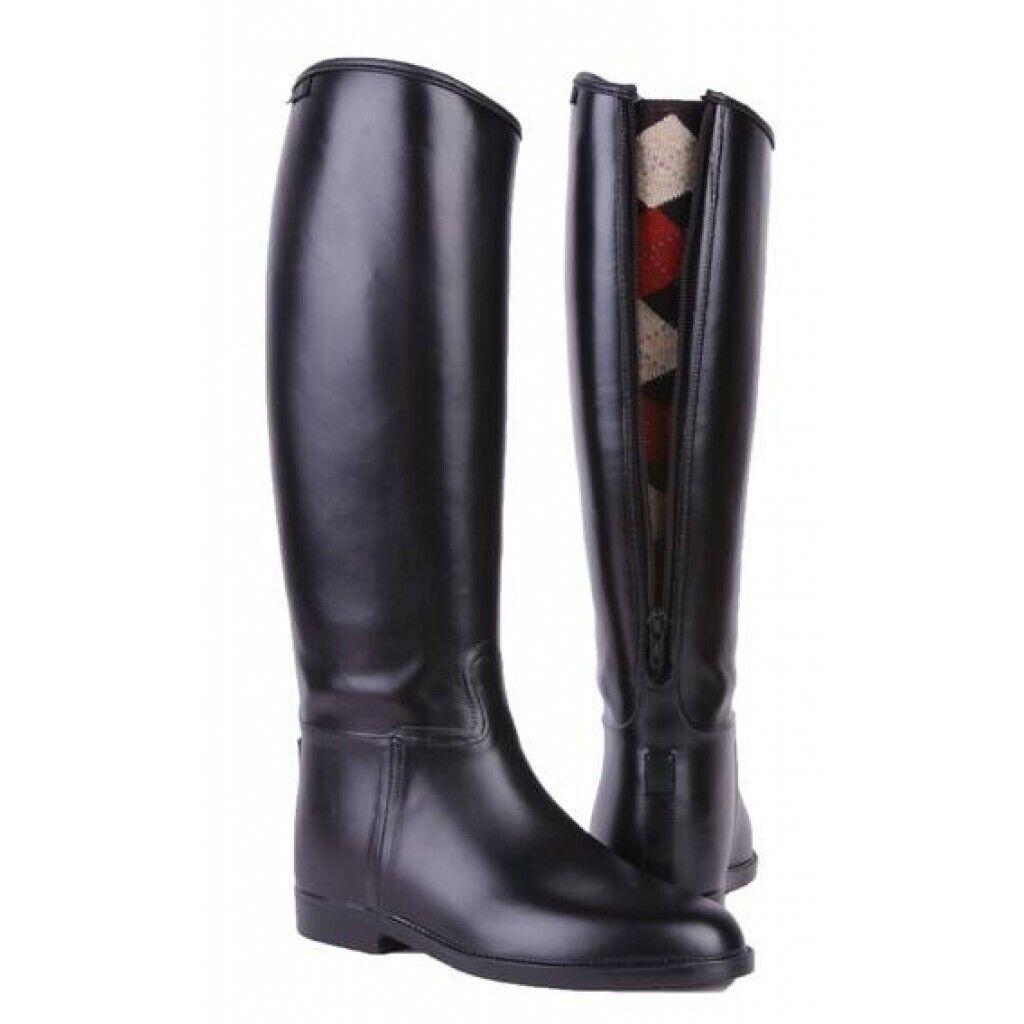 HERREN REITSTIEFEL PVC-Stiefel mit Reißverschluß 41-46 Schaft  LANG + WEIT