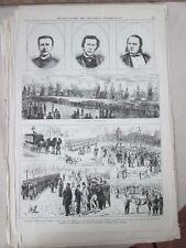 Vintage Print,GUIBORD FUNERAL MONTREAL,Nov29,1875,Centennial Daily Graphic