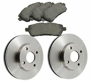 Ford-Fiesta-MK7-Zetec-2008-Front-Brake-Discs-and-Brake-Pads-258mm-Vented-Discs