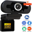 Full-HD-1080P-PC-Laptop-Camera-USB-Webcam-Video-Calling-Web-Cam-With-Microphone thumbnail 1