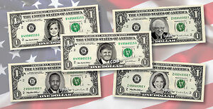 2020 PRESIDENTIAL CANDIDATES on REAL Money Cash Dollar Bank Note President