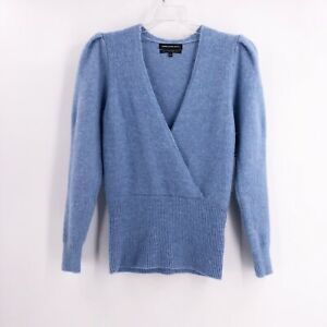 Something-Navy-Blue-Alpaca-Blend-Deep-V-Neck-Sweater-Size-XXS-NWT-Long-Sleeve