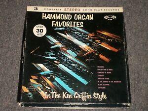 Hammond Organ Favorites In The Ken Griffin Style~3 LP~FAST
