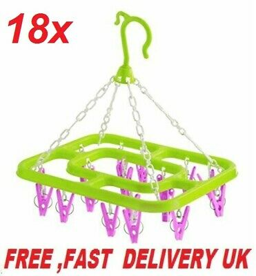10 Large 9.5cm Wooden Pegs Clothes Hanging Washing Line Airer Dryer Laundry clip