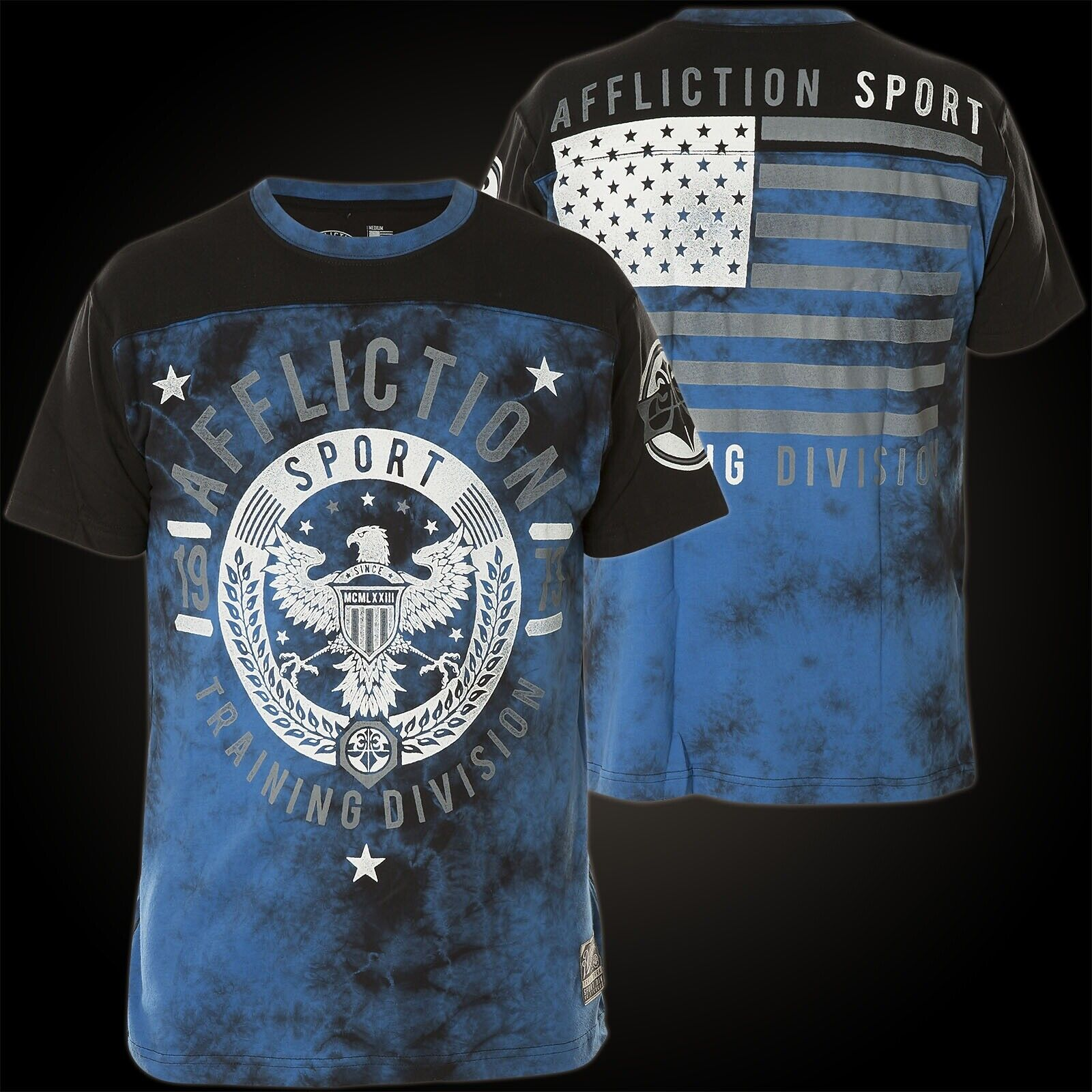 Affliction T-Shirt Victory 73 Blue/Black