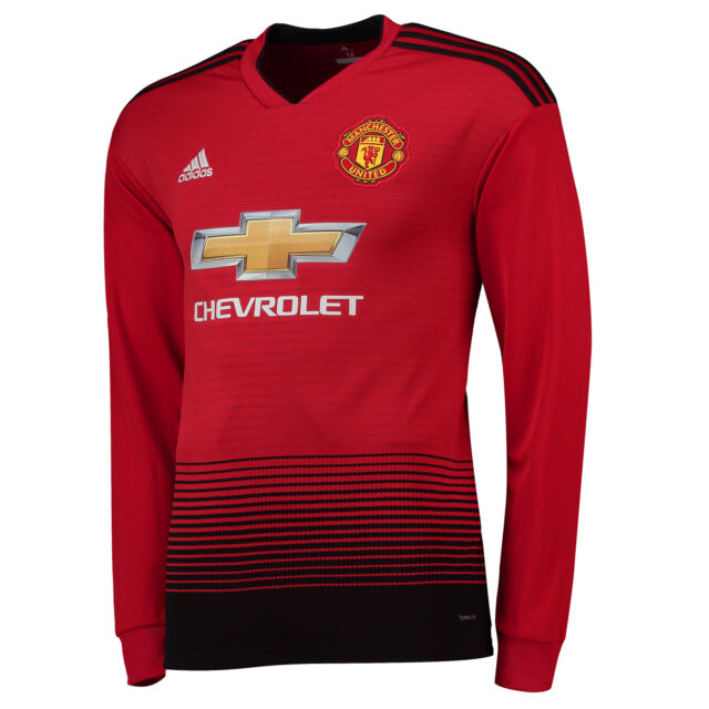 e34487770c1 Mens M Manchester United Home Shirt 18-19 - LS With Pogba 6 Print ...