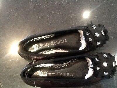 Juicy Couture Nuevo Y Genuino Cuero Peltre chicas bombas Size UK 12 EU 31 y logotipo