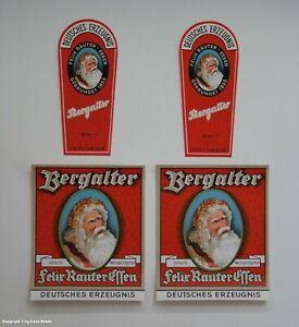 VIER-Flaschen-Etiketten-Bergalter-Felix-Rauter-Essen-wohl-um-1925