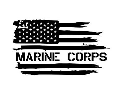 USMC Marine Corps Flag Decal Sticker