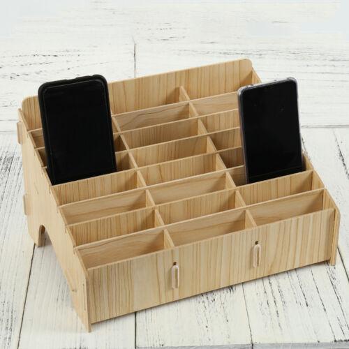 Hölzerner Handy Aufbewahrung Handy Behälter Schreibtisch Organisator Halter Büro