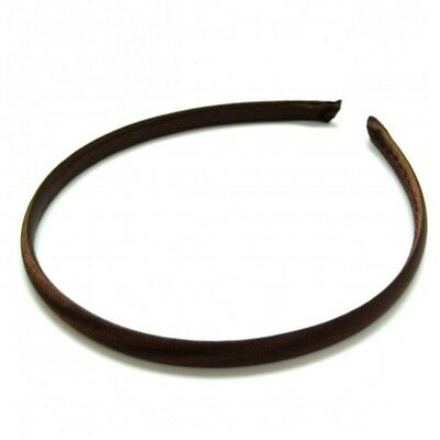 Narrow Satin Covered Plain Alice Band Hair Band Headband 1cm - Hair Accessories