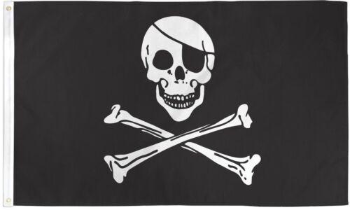JOLLY ROGER EYEPATCH 2X3/' FLAG NEW JOLLY ROGER PIRATE POISON