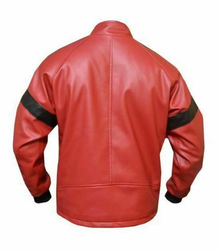 Giacca And Bandit Smokey in Red uomo The Reynolds Out pelle Burt Bomber da gYqYx1r8w