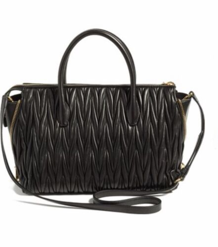 81121b43fc4a 4 of 7 Miu Miu Matelasse Black Leather Handbag Tote RN1015 N88 F0002 - NWT