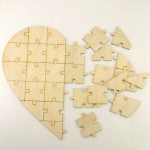 Herzpuzzle Zum Selber Gestalten Aus Holz 30 Teile Basteln Kinder