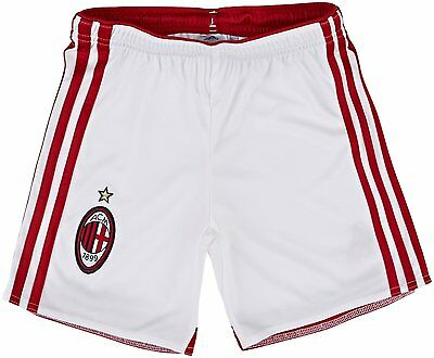 Pantaloncini Short Calcio Junior Ufficiali Adidas Ac Milan Bianchi 2014/15 Home Limpid In Sight