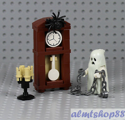 Haunted House Castle Halloween Ghost Minifig 4x Candleholder /& Torches LEGO