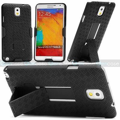 Samsung GALAXY Note 5 Holster Hard Case Kickstand Cover Fold Stand Belt Clip