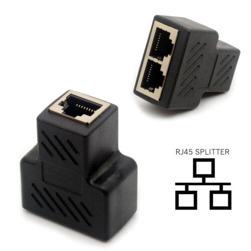 Network Keystone Jack Female to 2 Female LAN Ethernet Splitter US RJ45 Splitter