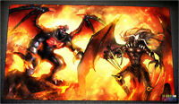 Free Shipping Yugioh Playmat Burning Abyss Playmat Graff Scarm