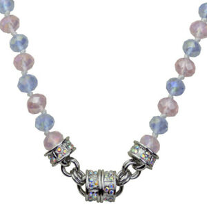 Kirks-Folly-Rosy-Violet-Beaded-Magnetic-Interchangeable-Necklace-Silvertone