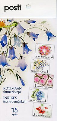 Finland 2018 Mnh Flowers Of Happiness Roses 15v S/a Booklet Nature Flora Stamps Straatprijs