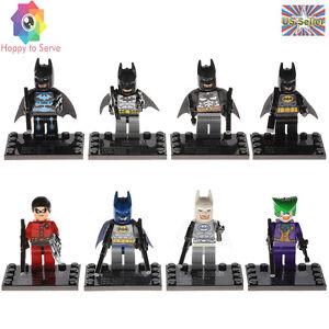 Batman Robin Bat Suit Arctic Legacy Electro 8 PCS Minifigures Building Block Toy