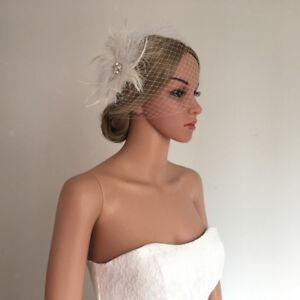 492a53fcb162f Image is loading White-Fascinator-Mesh-Net-Ladies-Girls-Wedding-Church-
