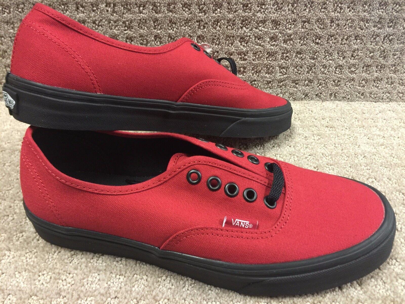 Vans Chaussures Hommes Authentique (noir semelle) Jester Rouge