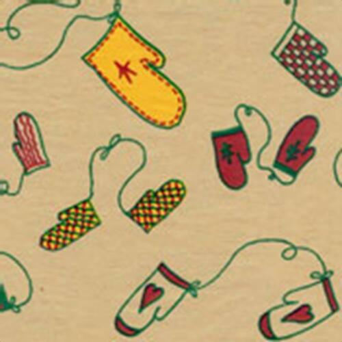 BULK Pack 240 Sheets Winter MITTENS Tissue Paper on Kraft//Tan # 0701