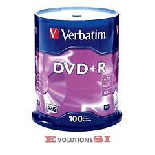 100 VERBATIM DVD +R 16X 4.7GB ENVIO URGENTE TARRINA DVD+R ORIGINALES NO 25 50