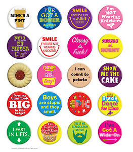 Brainbox-Candy-Metal-Button-Badge-Pin-Funny-Rude-Cheeky-Hen-Do-Stag-Night