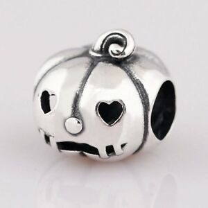 S925-Halloween-Pumpkin-bead-silver-charm-pendant-For-European-bracelet-bangle