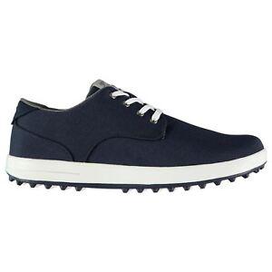 Slazenger-Canvas-Golf-Shoes-Mens-Blue-Spikeless-Footwear