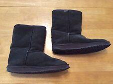 EMU Bronte Lo W20002 Brown Suede BOOTS Merino Wool Fur linng size 9