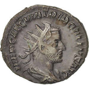 Billon Trebonianus Gallus Au Antoninianus 50-53 Roma Ric:33 Jade White #409813 Qualified