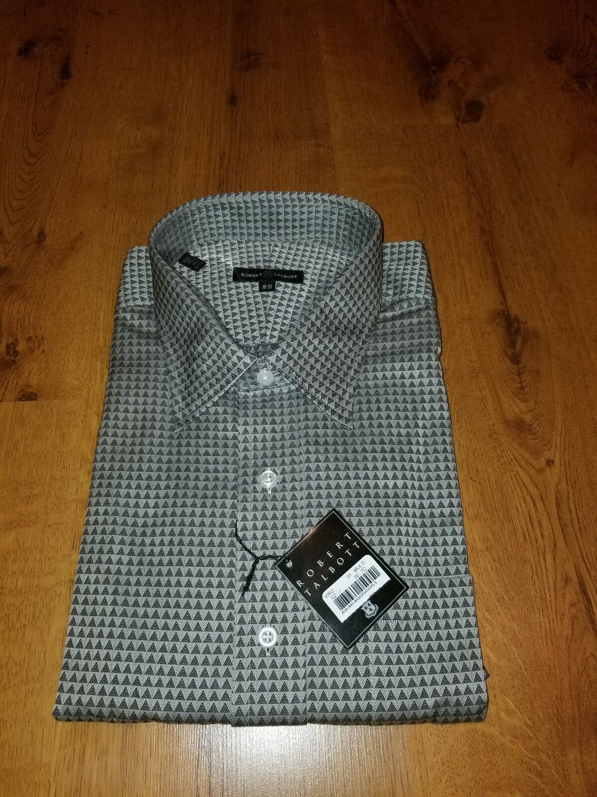 ROBERT TALBOTT Carmel Dress Shirt 18 x 35 100% Cotton