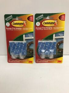 Image Is Loading Lot Of 2 Outdoor Command Hooks Strips Plastic