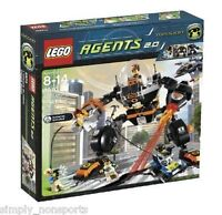 Factory Sealed In Original Box Retired Lego Agents Robo Attack Set 8970