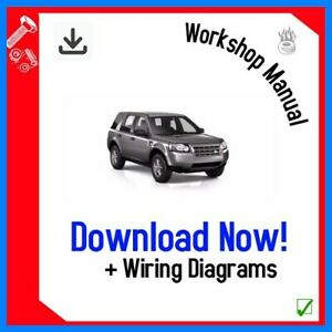 Land Rover Freelander 2 Workshop Service Repair Manual 2007 2011 Download Ebay
