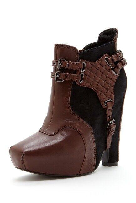 Sam Edelman ZOE leather ankle boots bootie wedge platform heels shoes 8,5 US
