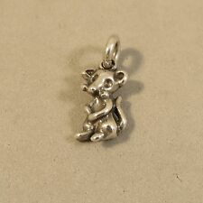 .925 Sterling Silver 3-D Small STANDING MOUSE CHARM Pendant Rat NEW 925 AN108
