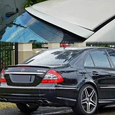 ALL Painted FOR BENZ W211 LCI Facelift Window Roof Spoiler 06-08 E-Class REAR
