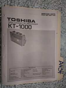 Toshiba-kt-1000-service-manual-original-repair-book-tape-deck-recorder-player