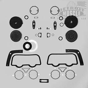DMT-Mopar-B-Body-1968-68-Dodge-Charger-Exterior-Paint-Gasket-Set-Seals-Taillight