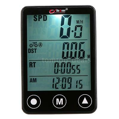 Portable Wireless LCD Bicycle Computer Odometer Speedometer DL A2F2